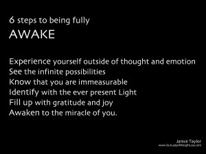 6 steps to fully awake
