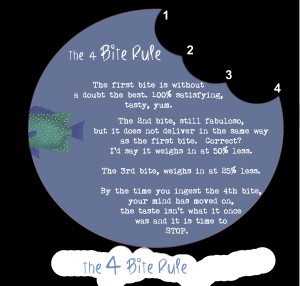 The 4 Bite Rule - by Janice Taylor, Weight Loss Artist