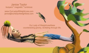 Counteracting Gravity with Our Lady of WeightLessNess by Janice Taylor, Life & Wellness Coach, WeightLessNess Expert