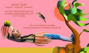Experience WeightLessNess...  Janice Taylor, Anti-Gravity Coach, Positarian, Artist, Author