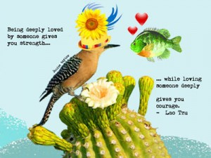 Fish Loves Bird...by Janice Taylor, Weight Loss SUCCESS Coach, Happiness Expert, Author, Artist, Positarian